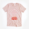 Beautiful Day Unisex Crew, Heather Peach