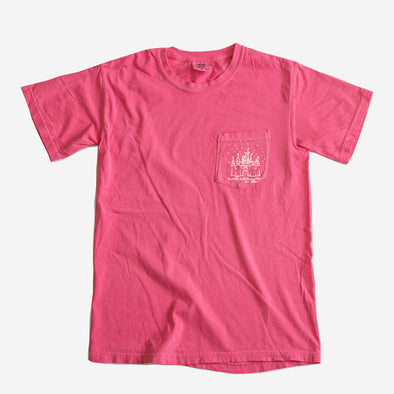 Cozy Dream Comfort Colors Unisex Pocket Crew, Peony