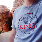 To Be King Unisex Crew, Heather Grey