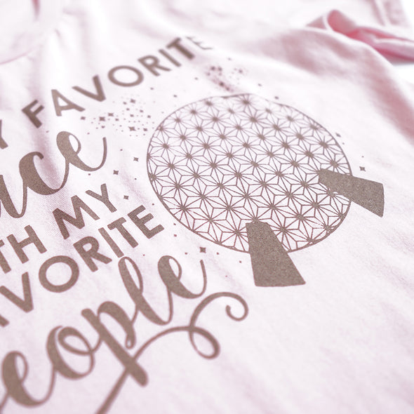 ORIGINAL Favorite Place: Ball People Unisex Crew, Pink - Festival Limited Edition!