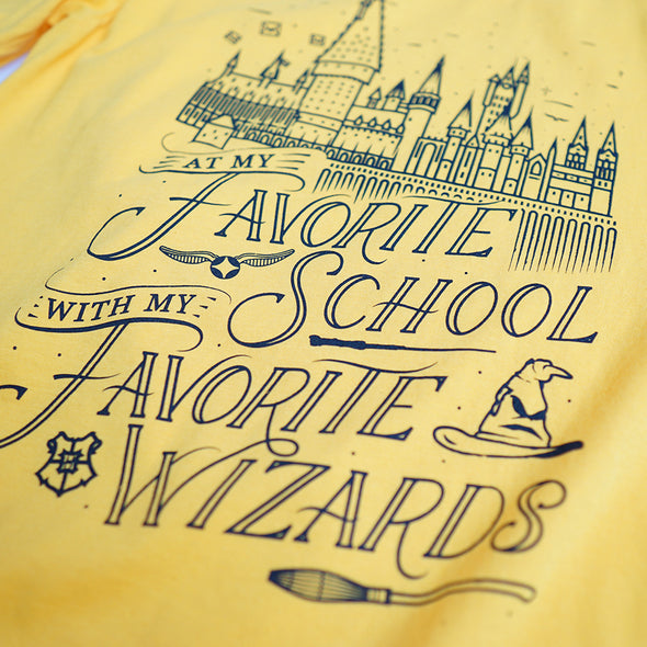 Favorite Wizards Unisex Crew, Golden Yellow