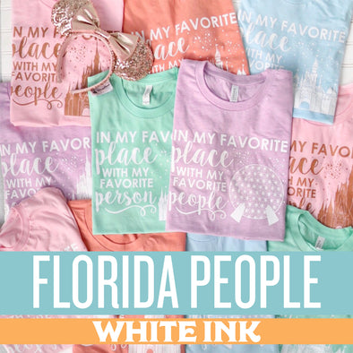 ORIGINAL Favorite Place: Florida People Unisex Crew - SPRING COLORS!