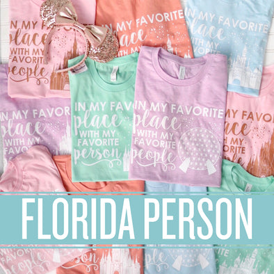 ORIGINAL Favorite Place: Florida Person Unisex Crew - SPRING COLORS