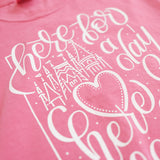 Here for a Day Comfort Colors Unisex Crew, Peony