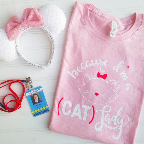 Cat Lady Crew and V Neck Tees