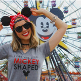 Mickey Food Ladies Flowy V, Grey