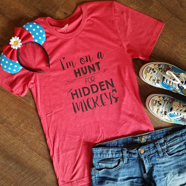 Hidden Mickeys Unisex Crew Tees