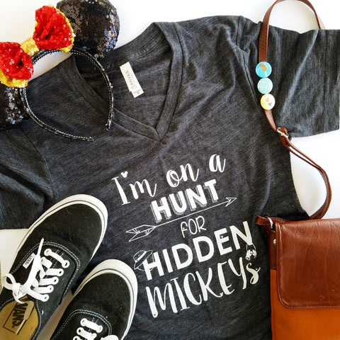 Hidden Mickeys Black Slub Unisex V