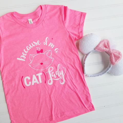 Cat Lady Youth Tee
