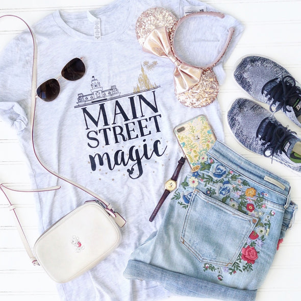 Main Street Magic Unisex Crew, Ash