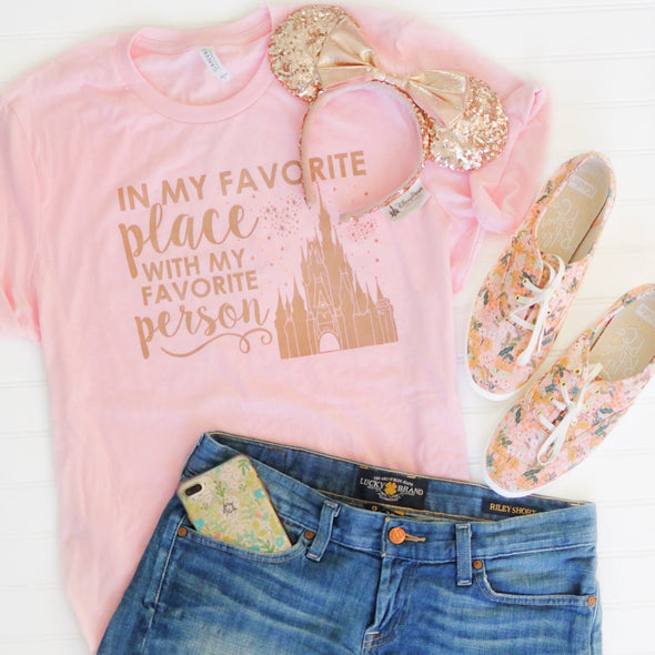ORIGINAL Favorite Place - Florida Person Unisex Crew, Rose Gold on Pink Limited Edition!