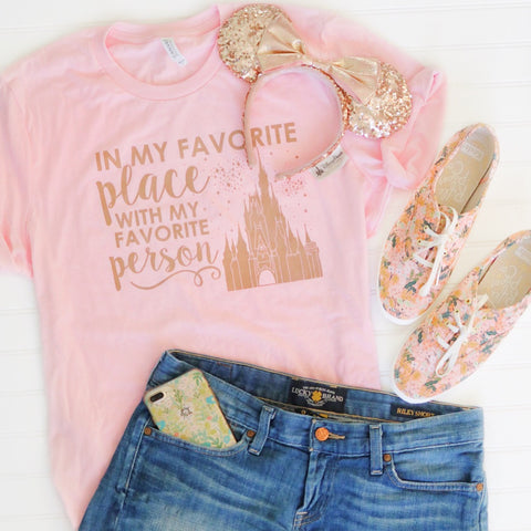 Favorite Place - Florida Person Unisex Crew, Rose Gold on Pink Limited Edition!