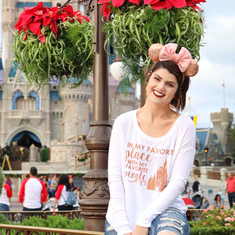 Rose Gold Favorite People Ladies Flowy Long Sleeve