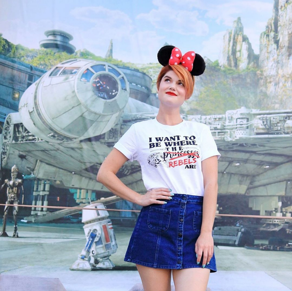 Where the Princesses Are: Rebel Unisex Crew, White