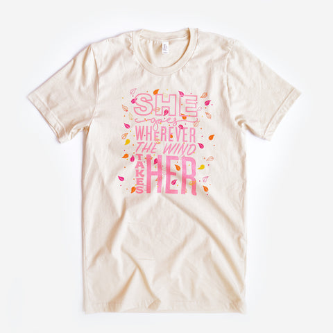 She Goes Unisex Crew, Cream