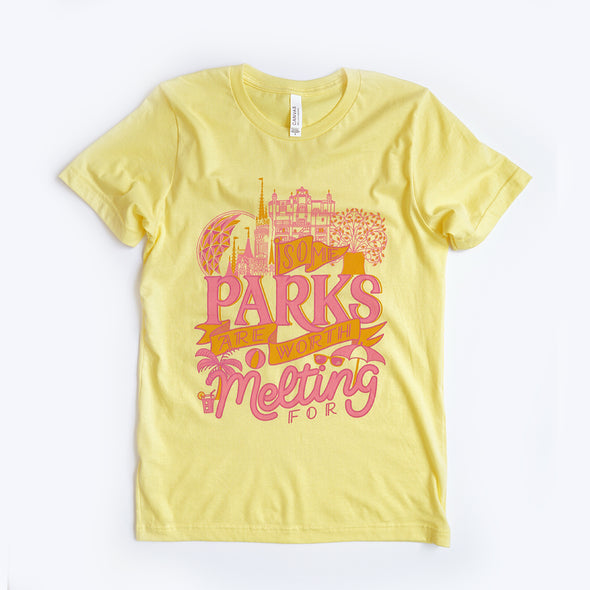 Some Parks Unisex Crew, Yellow