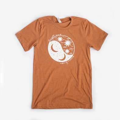 Suns & Moons Unisex Crew, Heather Autumn