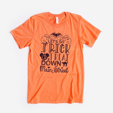 Trick or Treat Unisex Crew, Heather Orange