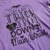 Trick or Treat Unisex Crew, Heather Purple