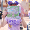 Where the Princesses Are: Dreamer Unisex Crew, Lilac