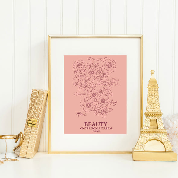 Botanical Princess: Briar Rose Art Print