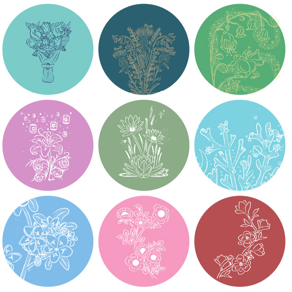 Botanical Princess Buttons