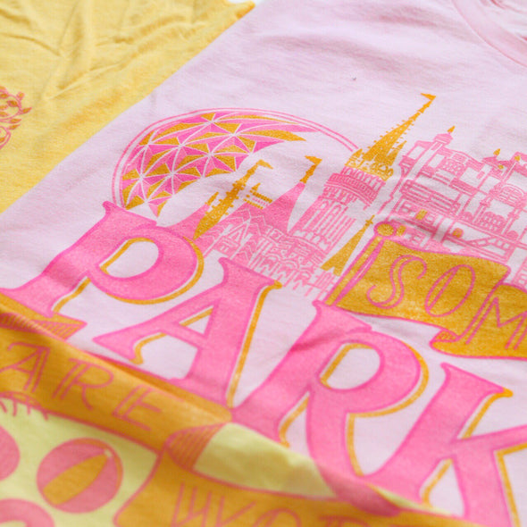 Some Parks Unisex Crew, Light Pink