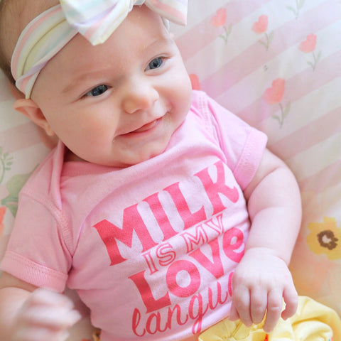 Milk is My Love Language Onesie