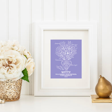 Botanical Princess: Olive Flower Art Print