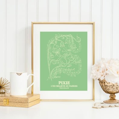 Botanical Princess: Fairy Flower Art Print