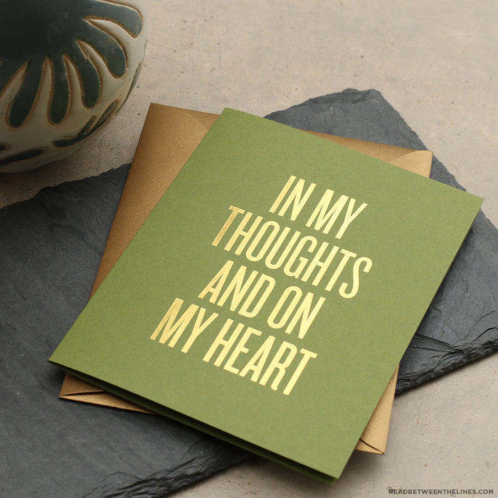 In My Thoughts Card by RBTL®