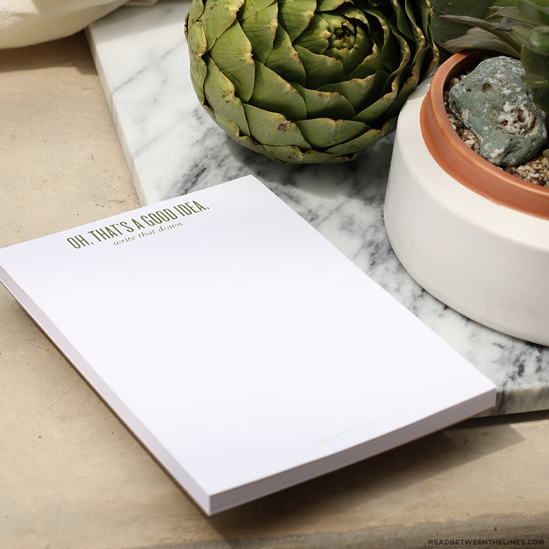 Good Idea Notepad by RBTL®