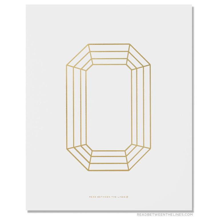 Emerald Cut Gem Print by RBTL®