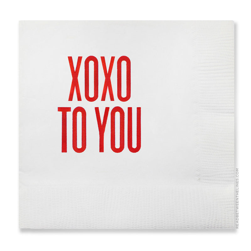 XOXO To You Cocktail Napkins by RBTL®