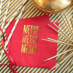 Merry Merry Merry Cocktail Napkins by RBTL®