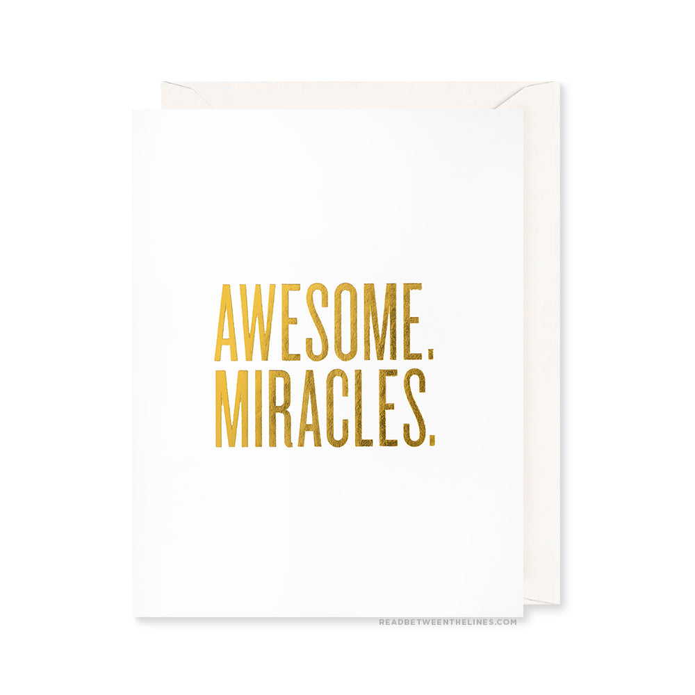 Awesome. Miracles. Card by RBTL®