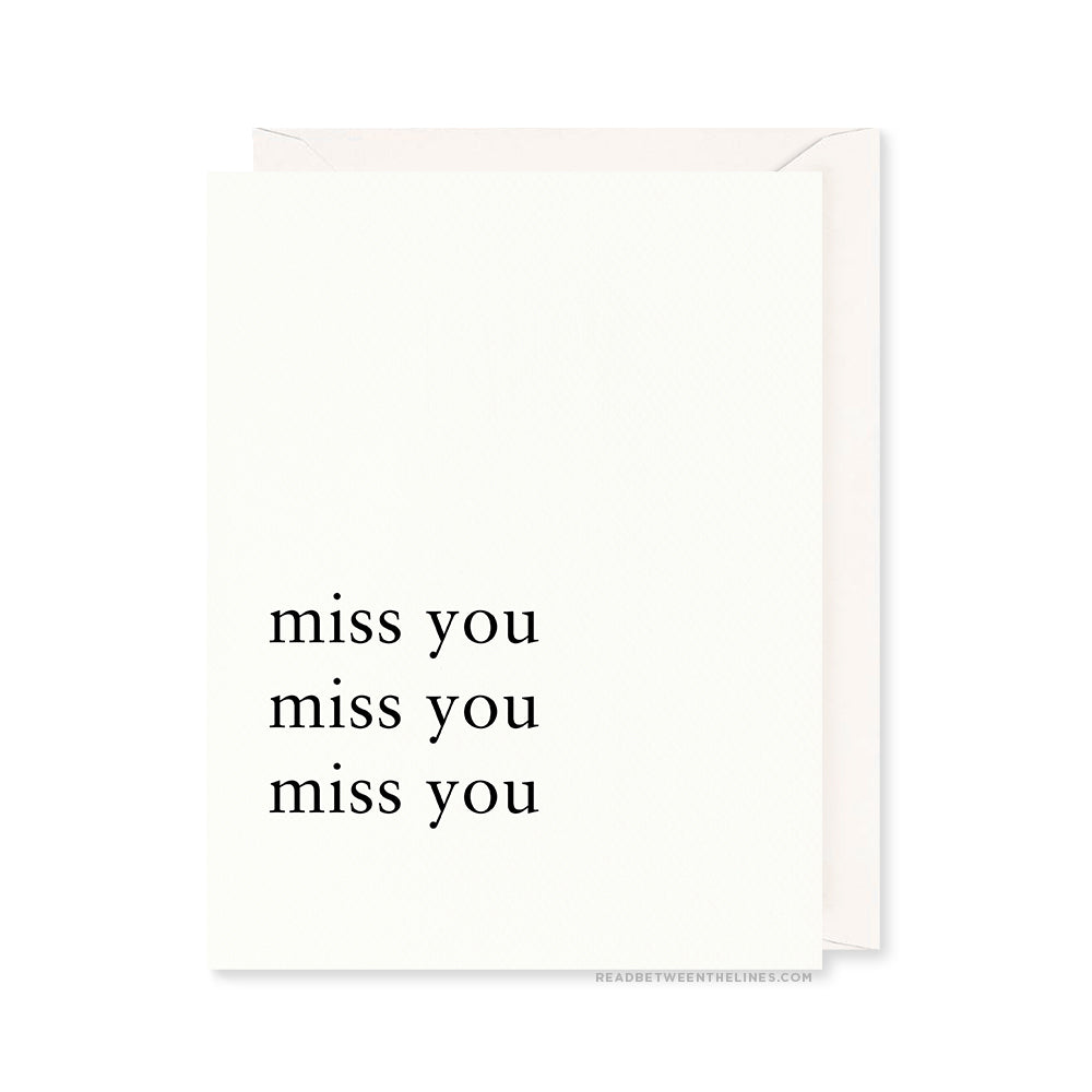 Miss You Card by RBTL®