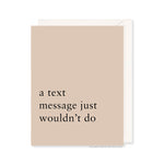 Text Message Card by RBTL®
