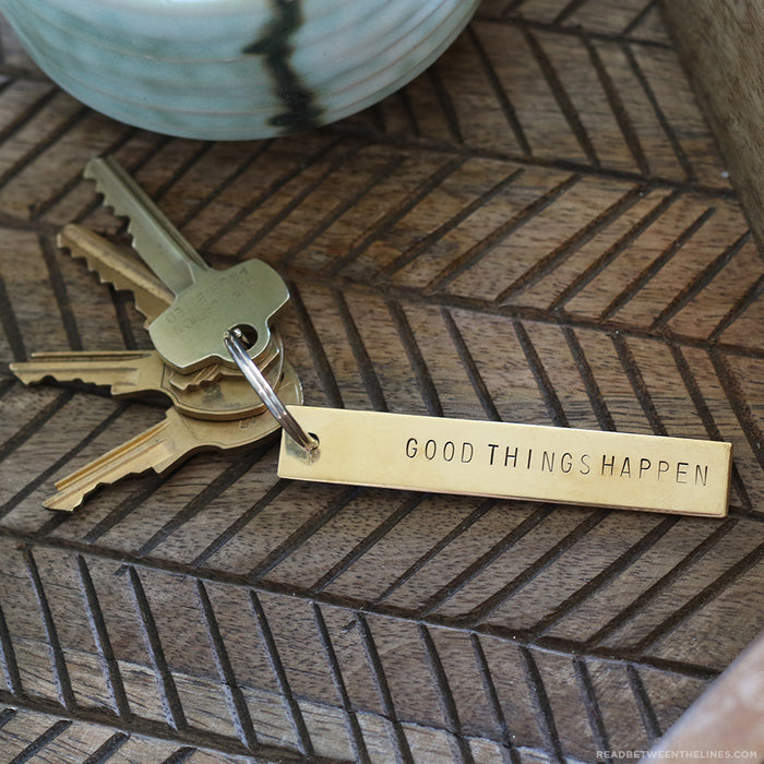 Good Things Happen Keychain by Tumble x Read Between The Lines®