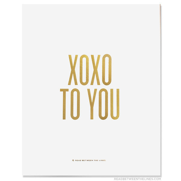 XOXO To You Print by RBTL®