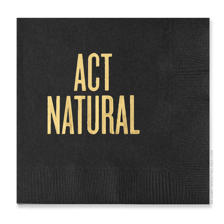 Act Natural Cocktail Napkins by RBTL®
