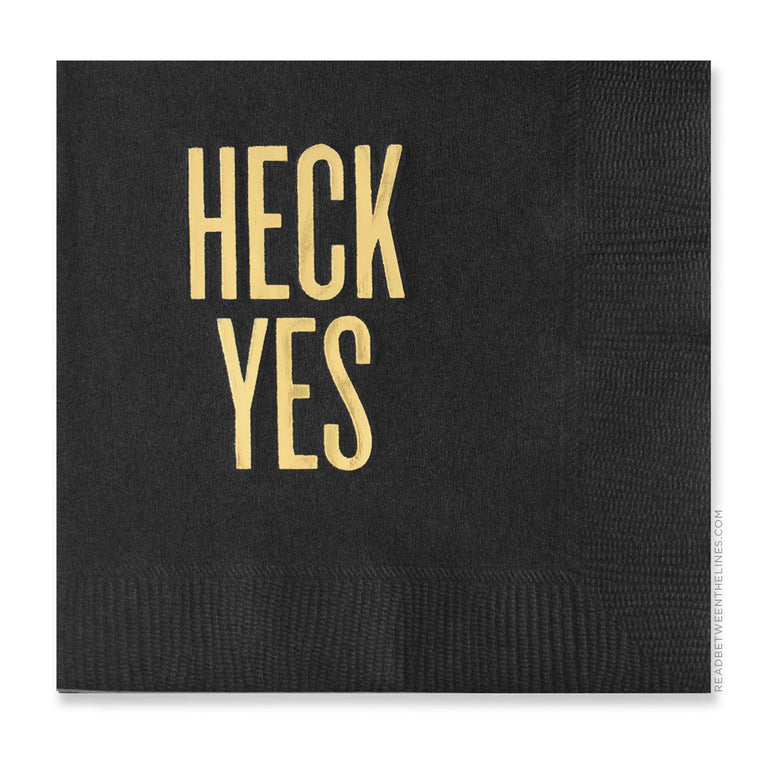 Heck Yes Cocktail Napkins by RBTL®