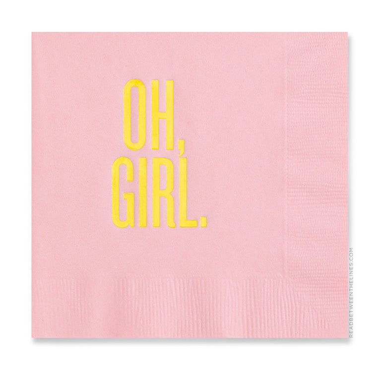 Oh, Girl. Cocktail Napkins by RBTL®