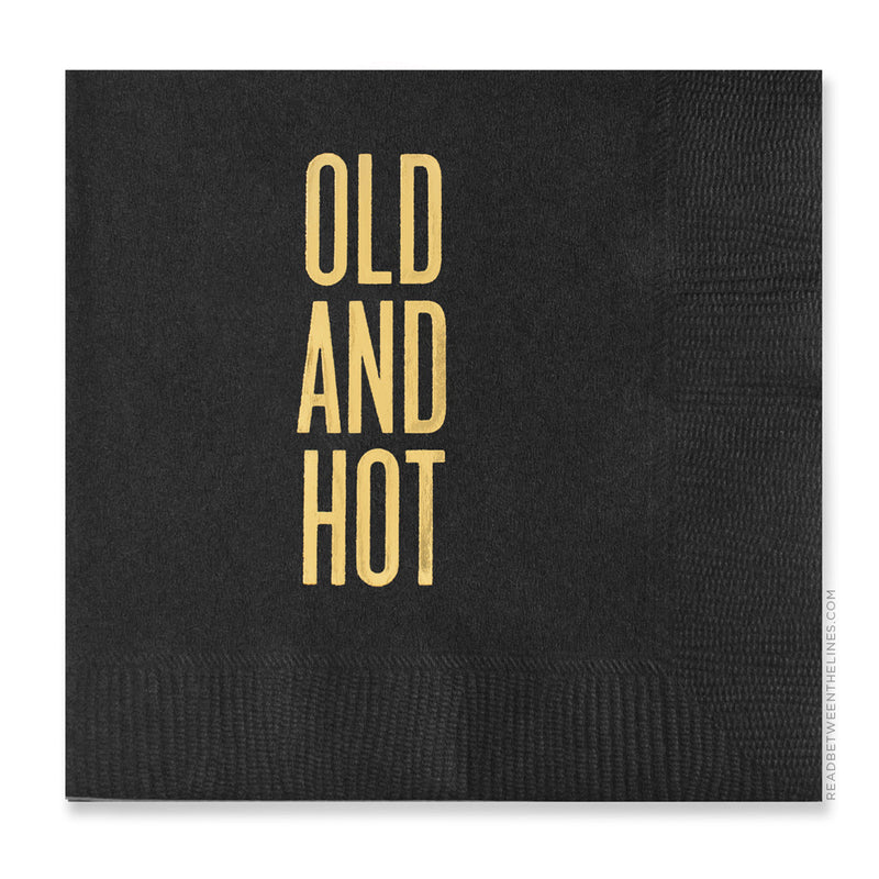 Old And Hot Cocktail Napkins by RBTL®