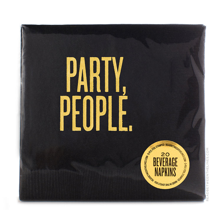 Party, People. Cocktail Napkins by RBTL®