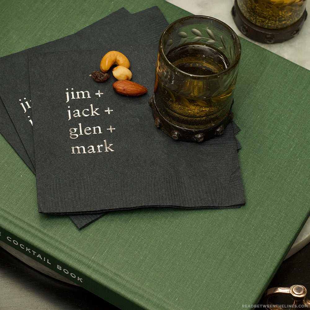 Whiskey Cocktail Napkins by RBTL®