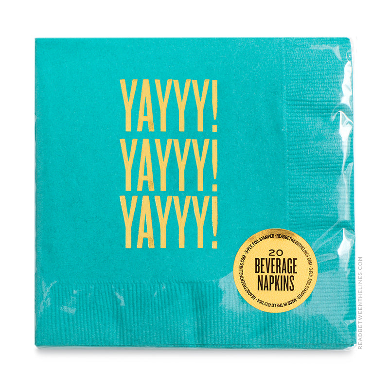 Yayyy! Yayyy! Yayyy! Cocktail Napkins by RBTL®