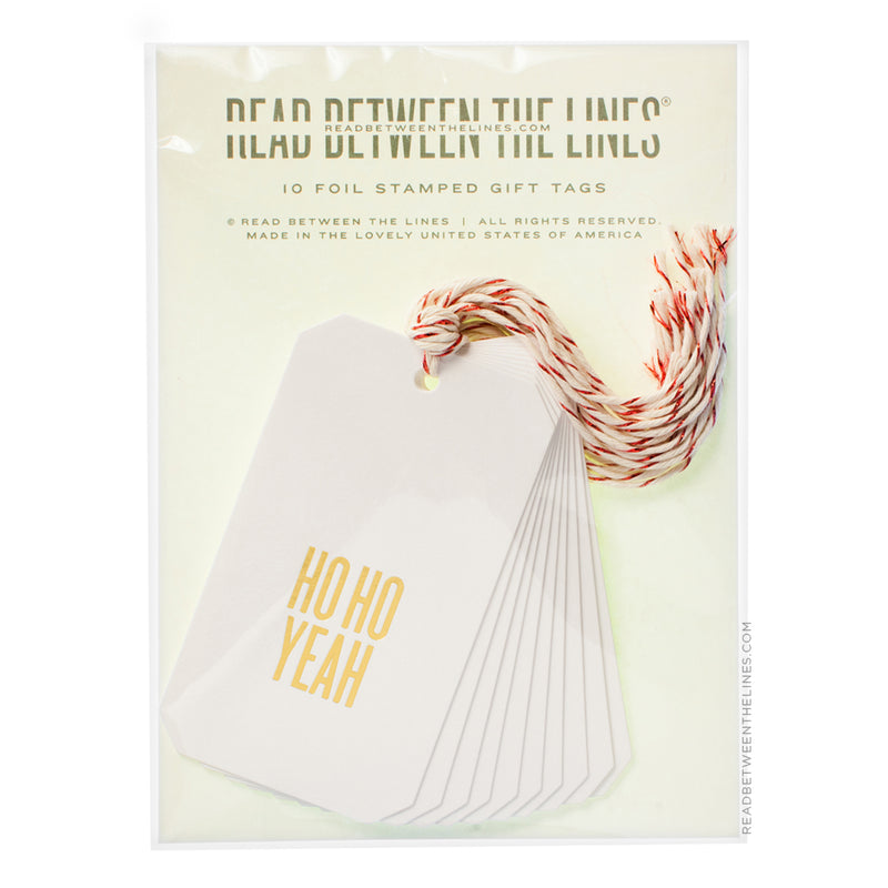 Ho Ho Yeah (Gold Foil) Gift Tags by RBTL®