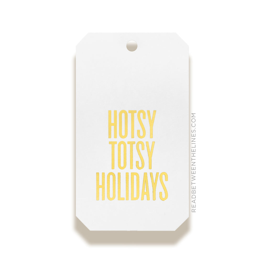 Hotsy Totsy Holidays (Gold Foil) Gift Tags by RBTL®
