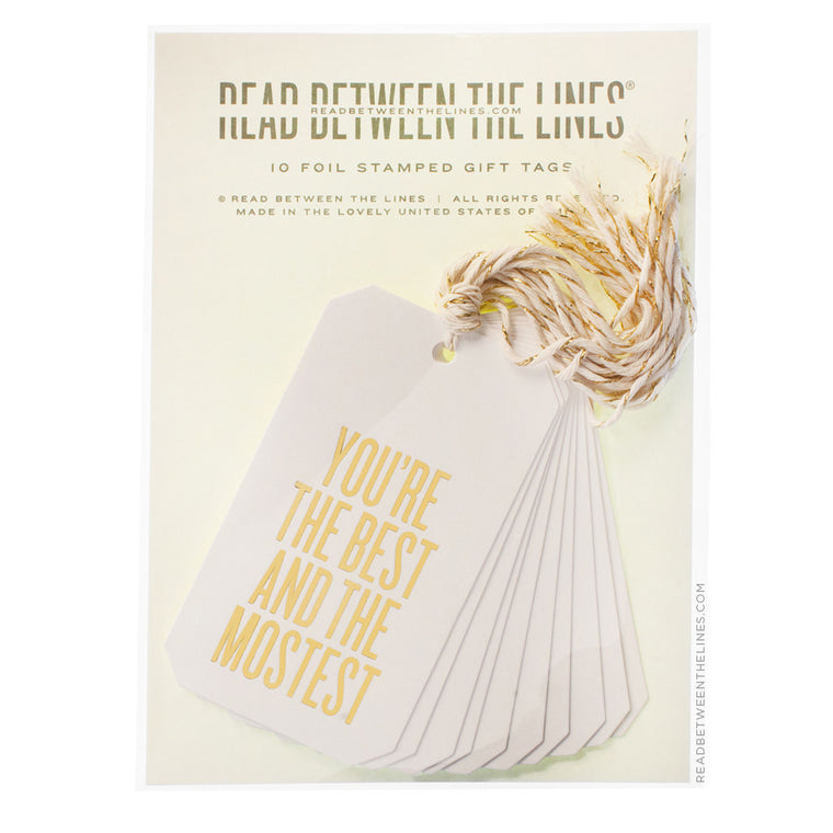 You're The Best and Mostest Gift Tags by RBTL®